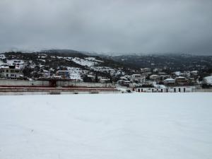 Γήπεδο Πυργετού με χιόνι